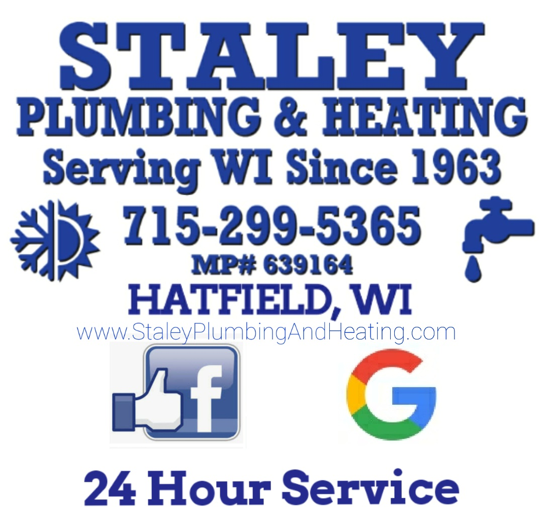 Staley Plumbing & Heating - Serving Wisconsin since 1963 - 715-299-5365