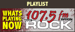 Playlist: Whats Playing Now on 107.5 FM The Rock