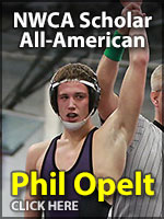 Phil Opelt, A National Wrestling Coaches Association Scholar All-American at Cornell College.